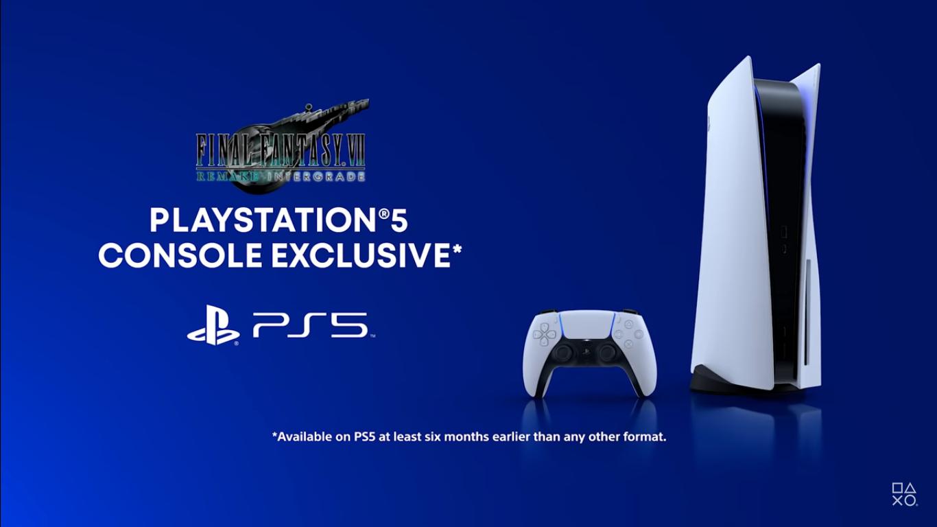 Final Fantasy VII Intergrade A Timed Exclusive