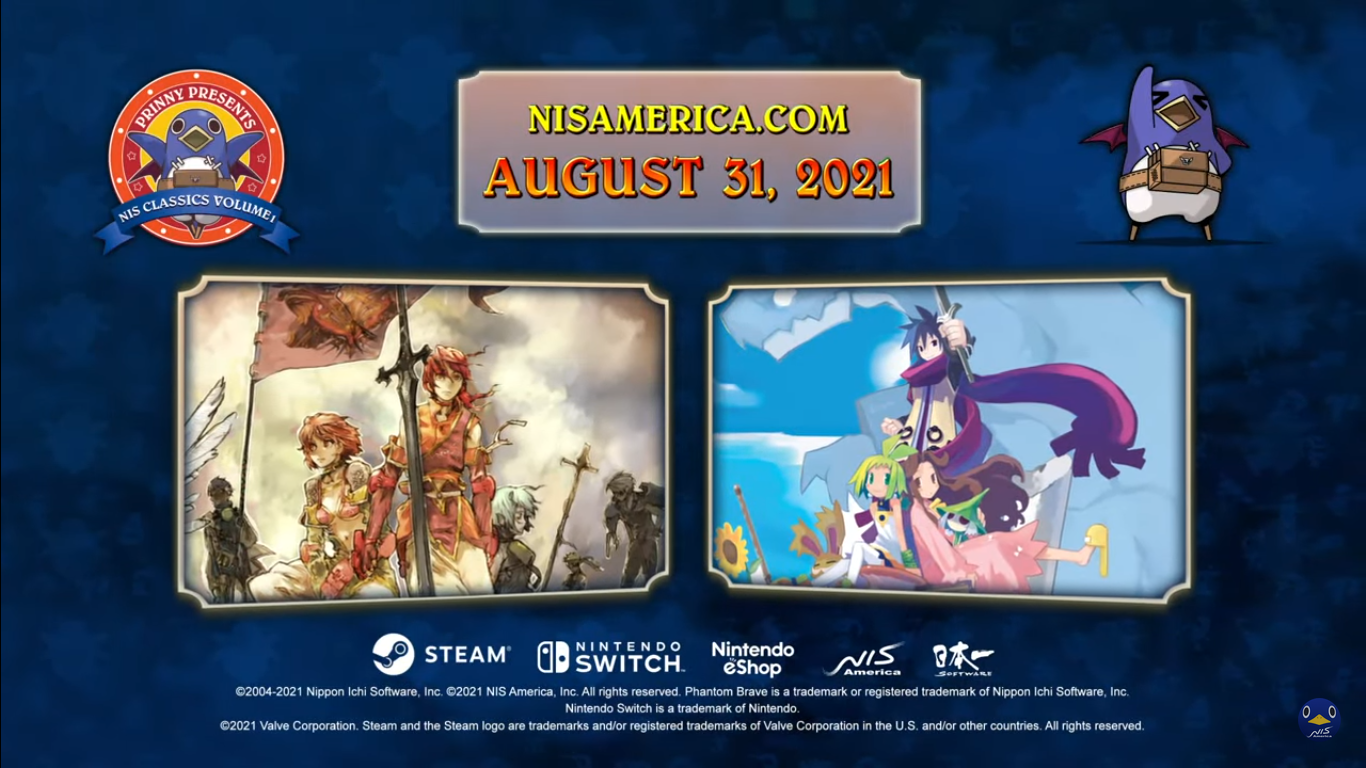 NIS Classics Vol. 1 Switch And PC Release Dates